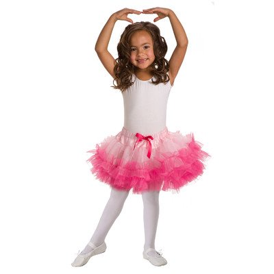 Child Fluffy Tutu Pink/Hot Pink Standard