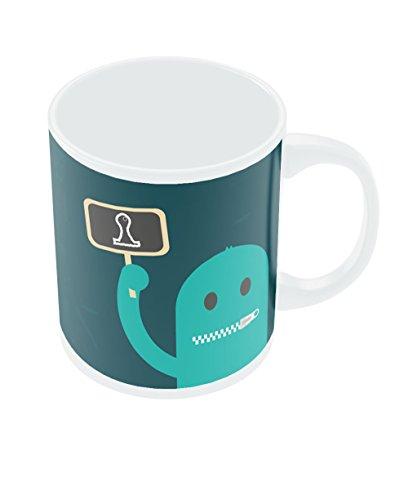 PosterGuy Design And Brand - A Silent Ambassador Blue Typography Motivational Inspirational Ceramic Coffee Mug...