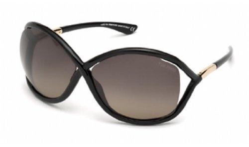 Tom Ford Sunglasses - Whitney / Frame: Shiny Black Lens: Smoke Polarized