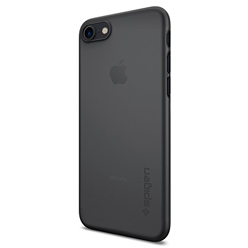 Coque iPhone 7, Spigen® [Air Skin] Ultra Mince [Noir] Premium Semi-transparent Lightweight / Exact Fit / NO Bulkiness Hard Coque Pour iPhone 7 (2016) ...