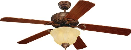 Monte Carlo 5or52tbd Ornate Elite 52 Inch 5 Blade Ceiling Fan With Light Kit  And Mahogany - Monte Carlo Ceiling Fan Light Kit Iron Blog