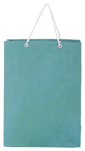 Utsav Kraft Paper 3 Ltrs Blue Reusable Shopping Bags (pack Of 10)