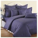 Swayam Sonata Jazz Cotton Double Bedsheet Set - Indigo (JAZZ 01-INDIGO)