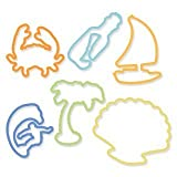 Fun Beach Shapes Silicone Original Silly Bandz Rubber Band Bracelets Party Favors 6 Packs With 24 Bands In Each...