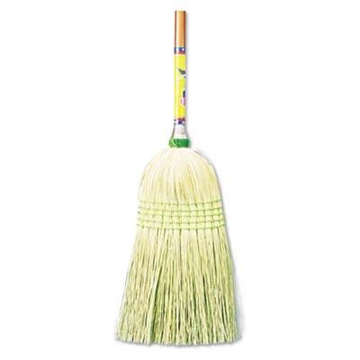 "UNISAN Parlor Broom, Corn Fiber Bristles, 42"" Wood Handle, N"