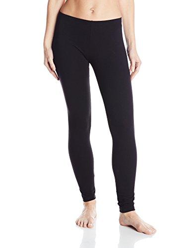 No Nonsense Women's Cotton Legging, Black, Medium