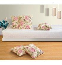 Swayam Drape And Dream Cotton 5 Piece Cushion Cover Set - Cream And Black (CC125-3612)