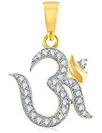 Kaizer Economica Gold & Rhodium Plated OM Pendant Locket (God Religious Pendant) With American Diamond For Women...