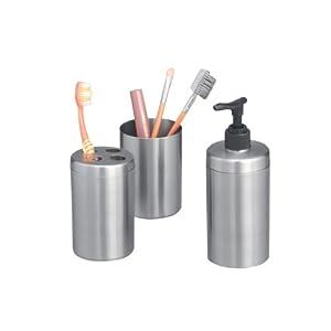 Zeller 18258 Set 3 accessori da bagno in acciaio INOX: Amazon.it: Casa ...