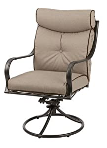 "Set of 4: Living Accents ""Gilbert"" Outdoor Swivel Rocker ... on Living Accents Patio id=70701"