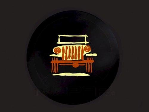 New OEM Mopar 07-14 JK Jeep Wrangler Cartooned Wrangler Spare Tire Cover