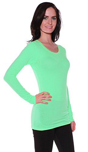 Active Basic Athletic Fitted Plain Long Sleeves Round Crew N