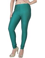 Fashion And Freedom Women's Terq Green Satin Legging