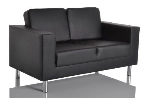 Design Sofa Primary 140x75 cm Schwarz 2-Sitzer Couch