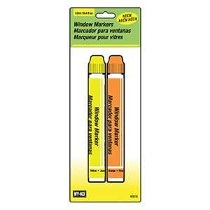 HY-KO PROD 40616 Window Markers, Orange/Yellow - Dry Erase