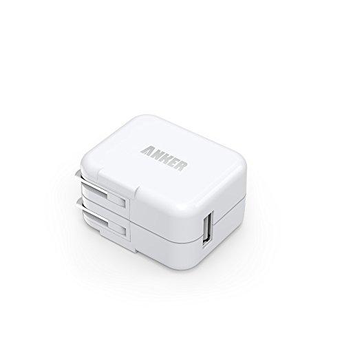 Anker® 10W USB急速充電器 ACアダプタ 出力2A 折りたたみ式 iPhone 6s/6s Plus iPhone6/5s/5c/5, iPad Air/mini, Galaxy S5/S4/Note 3/2/Tab/Nexus, 他のスマートフォンやタブレットなどに対応(ホワイト) 71AN10WS-WA