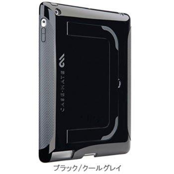 Case-mate+iPad+2用+ハイブリッドシームレスケース+ポップ+(ブラック%2Fクールグレイ)+CM013584