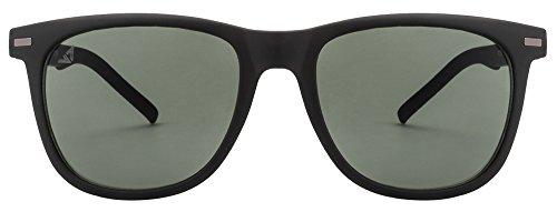 Vincent Chase VC 5187 Matte Black Green C7 Wayfarer Sunglasses (103732)
