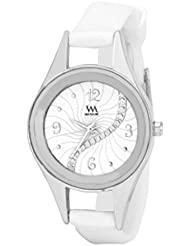 WATCH ME WHITE BROWN LEATHER ANALOG WATCH FOR MEN AND BOYS WMAL-098-W