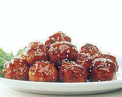 【肉だんご 15個入】甘辛タレ付き。外はカリカリ中はふんわり食感っ