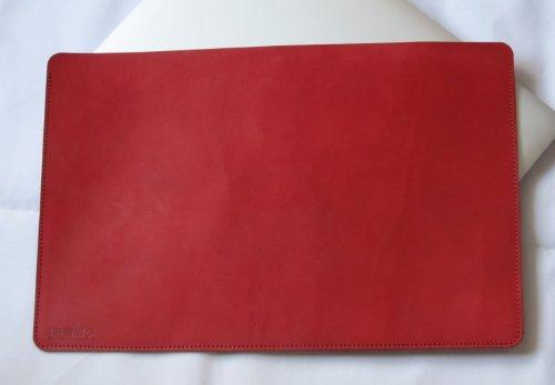 MacBook Air 11インチ オイルヌメ牛本革ケース 赤