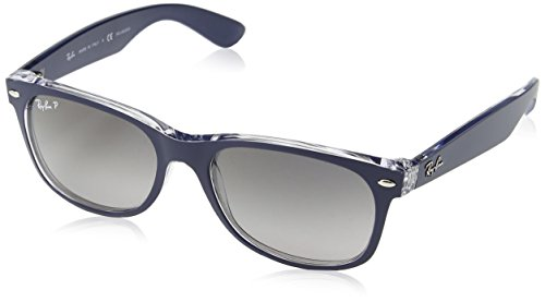 Ray-Ban Sunglasses - RB2132 Wayfarer / Frame: Top Blue on Transparent Lens: Grey Gradient Polarized (55mm)