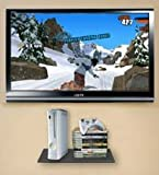 Glass Gaming Console Wall Shelf for Xbox 360, Ps3, Nintendo Wii, Etc.!