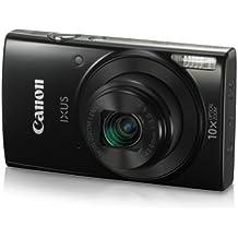 Canon IXUS 190 Digital Camera (Black) With 8GB Memory Card And Camera Case