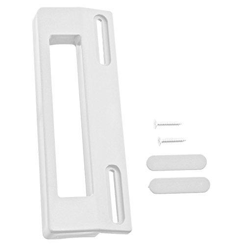 SPARES2GO Poignée de porte congélateur réfrigérateur réglable universel Spares2go (190mm, blanc)