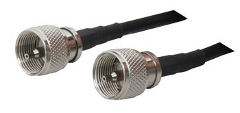 Times Microwave DP-QCPP-71DQ Ham Or CB Radio Antenna Cable PL-259 Connectors On LMR-240 Coaxial Cable 3-Feet