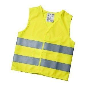 Gilet de sécurité gilet de sécurité pour enfant, taille s (jaune) pour les enfants entre 5 et 12 ans