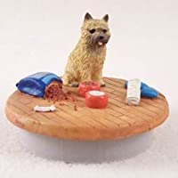 """Red Cairn Terrier Candle Topper Tiny One """"A Day At Home"""""""