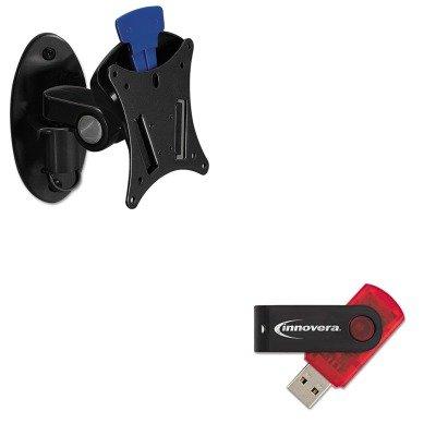 KITBLT66585IVR37600 - Value Kit - Balt Low Profile Ergonomic Wall Mount BLT66585 And Innovera USB 2.0 Flash Drive...