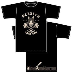 MONSTERHUNTER メラルーTシャツ ブラック サイズ:XL