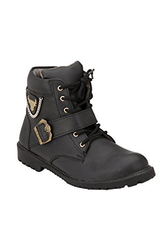 Afrojack Men's Rugged Synthetic Leather Boots
