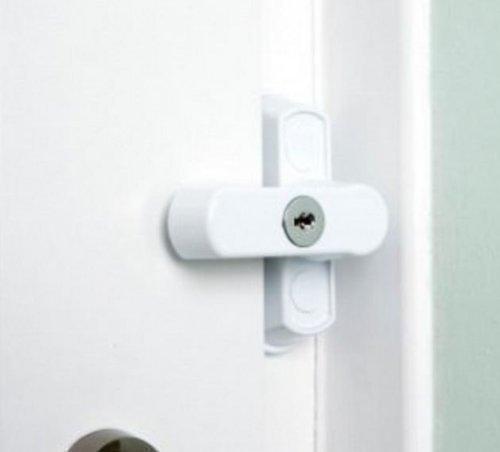 Sash Jammer-Set - Sicherheitsschlösser für Fenster & Türen aus uPVC - Weiß thumbnail