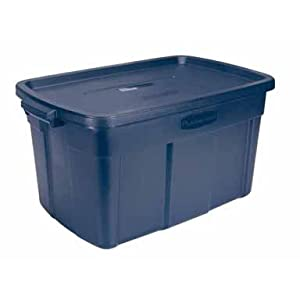 Newell Rubbermaid Home 31 Gallon Blue Roughneck Tote 2244CPDIM