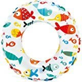 24 Inch Inflatable Swim Ring - Blow Up Floating Tube Raft Tube For Swimming Pool Beach For Age 6 To 10 Years -...