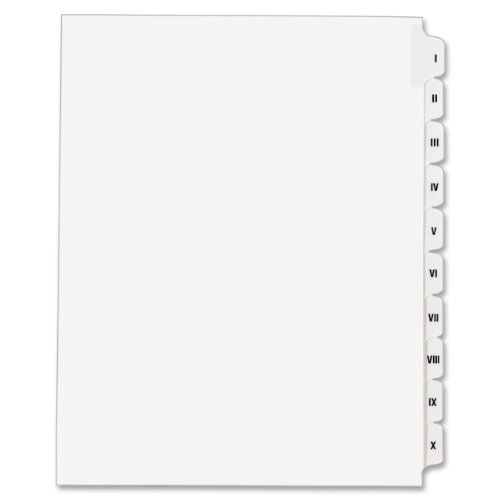 legal letter size avery collated dividers letter size i x tab set 22742 | 31qQZE4FioL