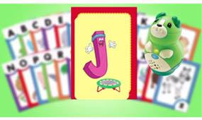 "Sing along to fun phonics songs. ""'The J says ""juh"", every letter makes a sound the J says ""juh'"""