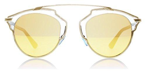 Christian Dior So Real U5SK1 Gold Cat Eye Sunglass