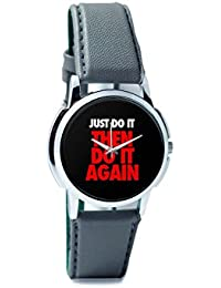 BigOwl Just Do It Then Do It Again Men's Analog Wrist Watch 2003078302-RS1-W-GRY