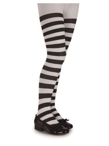 Great Group Halloween Costumes: The Addams Family - Rubies Girls Tights Black and White Stripped
