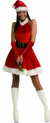 Secret Wishes Santa's Inspiration Costume, Red, Medium