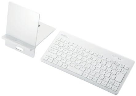 ELECOM Bluetooth3.0キーボード 86キー PC/iPhone/iPad対応 JIS⇔US配列切替切替スイッチ付 ホワイト TK-FBM036WH