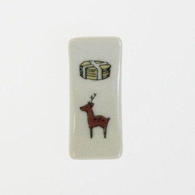 中川政七商店 遊中川 KUTANI SEAL 箸置き 鹿と煎餅
