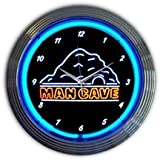Neonetics Home Indoor Restaurant Kitchen Decorative Mancave Neon Wall Clock