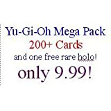 Yu-Gi-Oh Mega Pack: 200+ Yugioh cards, 5 rares and one free parallel ultra rare!
