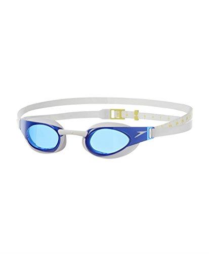Speedo Elite Goggle - Gafas de natación unisex, color blanco / azul, talla única