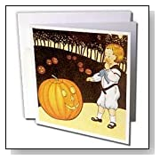 Scary Vintage Pumpkin Greeting Cards